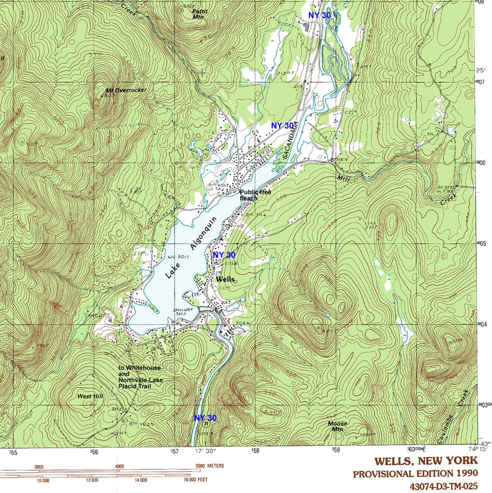 Wells Area Topographic Map