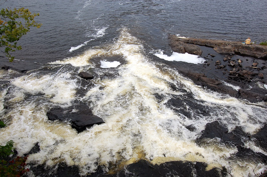 Bog River empties into Tupper Lake