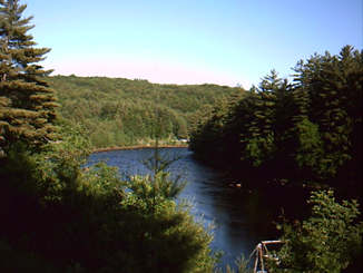 Sacandaga River from NY 30 in Hope